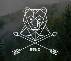 simplistic bear logo