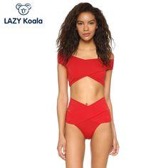 Find More Bikinis Set Information about 2017 Women Sexy Bikini Sets Red Crossover Swimsuit Push Up Swimwear Biquini Beachwear High Waist bikinis,High Quality bikini set,China bikini set red Suppliers, Cheap bikini up from LAZY Koala Store on Aliexpress.com