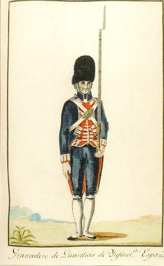 Reales Guardias de Infantería Española 1806 Granadero