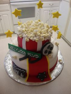 Hollywood movies birthday cake, I don't think mine would look like this.