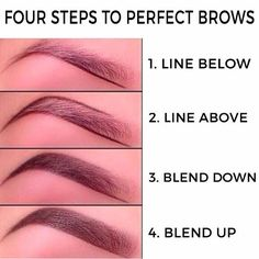 Instagram photo by easy.diy.makeup - Four steps to perfect eyebrows #hudabeauty #contouring #eyebrows #makeup#tutorial