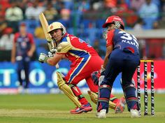 AB de Villiers half-century fires Royal Challengers Bangalore to 157 against Delhi Daredevils in IPL 2012--Bengaluru: Apr 7, 2012     Royal Challengers Bangalore failed to capitalise on an aggressive start before A B de Villiers rescued their innings with an unbeaten half century as they posted a competitive 157 for seven against Delhi Daredevils in their IPL match on Saturday.     With the explosive Chris Gayle sitting out due to fitness issues