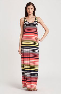 Three Dots Stripe Tank Maxi Dress available at Nordstrom