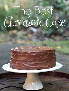 The Best Chocolate Cake Recipe. Three Layer Chocolate Cake | Chocolate Sour Cream Cake | Chocolate Frosting | Chocolate Sour Cream Frosting #ChocolateCake #BestChocolateCake #ChocolateFrosting #SourCreamChocolateCake #BirthdayCake