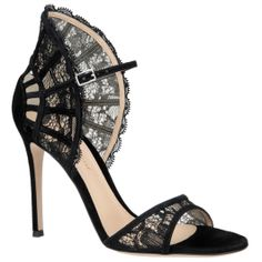 Black lace high heel sandals from Gianvito Rossi ab31a3d6e6ea
