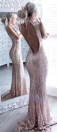 Mermaid Prom Dress, Sparkle Prom Dresses,Beaded Sequins Prom Dress,Bodice Backless Prom Dresses For Senior Teens,Sexy Evening Dress,Prom Dresses