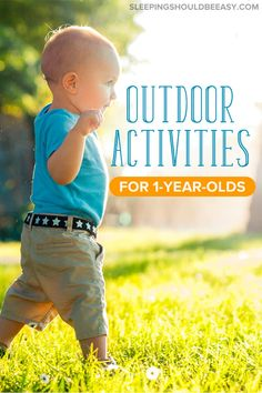 Want to take your toddler outside but out of ideas? Check out these fun outdoor activities for 1 year olds! From places to go to sensory activities at home youll find your perfect idea right here. Activities For One Year Olds, Outdoor Activities For Toddlers, Winter Outdoor Activities, Outside Activities, Activities To Do, Sensory Activities, Infant Activities, Summer Activities, 2 Year Olds