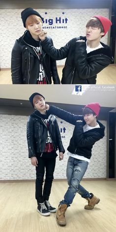 Jimin finally got to hit Suga apparently