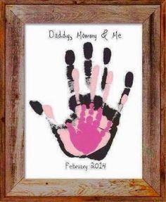 Family Hand Print Overlay Memory Piece