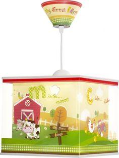 Met boerderijmotief - hanglamp My Little Farm Kids Lamps, Popcorn Maker, Decoration, Toy Chest, Storage Chest, Kitchen Appliances, Ceiling Lights, Design, Motifs