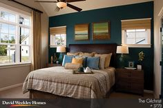 Bold colors in this Owner's Retreat in The Gilchrist Model - Charlotte, NC. David Weekley Homes