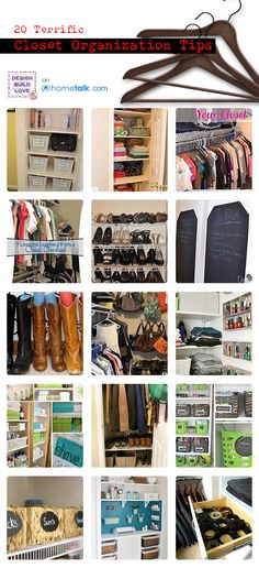20 Terrific Closet Organization TIps