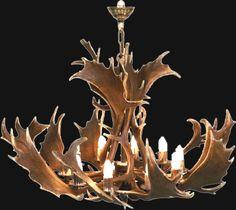 Fallow Deer Antler Chandelier Deer Antler Chandelier, Fallow Deer, Deer Antlers, Man Cave, Ranch, Hunting, Sweet Home, Ceiling Lights, Bedroom