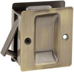 Kwikset 332 Rectangular Passage Pocket Door Lock Antique Brass Pocket Door Lock Passage