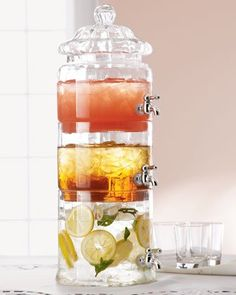 Stacked Beverage Server ~ for Summer Entertaining