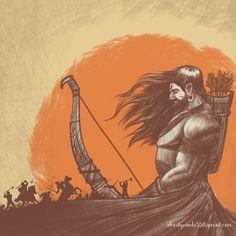 Mahabharat Sketch on Behance Krishna Painting, Krishna Art, Lord Krishna, Lord Shiva, Shiva Sketch, Lord Hanuman Wallpapers, Mythological Characters, Indian Art Paintings, Hindu Deities