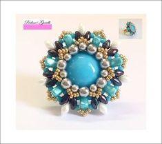 Beaded Brooch, Beaded Earrings, Beaded Jewelry, Wire Jewelry, Jewelry Making Tutorials, Beading Tutorials, Diy Rings Tutorial, Diy Beaded Rings, Diy Jewelry Inspiration
