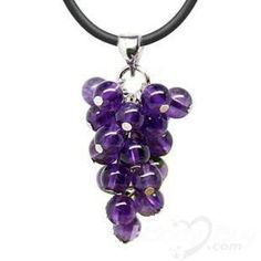 Sparkly Natural Amethyst Grape Crystal Pendant Jewellery 2013