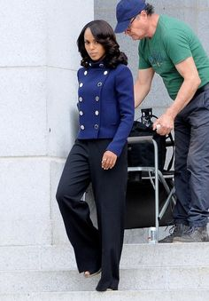 Scenes from the 'Scandal' Set