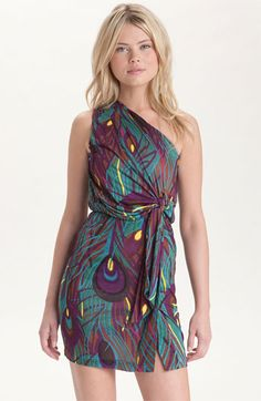Tbags one shoulder jersey dress- $178.00 @ Nordstrom.....I'm sure there is a pattern for this and I can make it cheaper