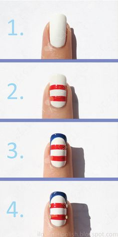 Tutorial: Nautical Themed Nail Art
