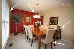 Red dining room red walls in dining room green dining chair styles to charming dining room . Accent Walls In Living Room, Dining Room Walls, Cozy Living Rooms, Dining Room Design, Living Room Decor, Dining Chair, Red Walls, Home Decor Bedroom, Interior