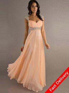2015 Style A-line Straps Beading Sleeveless Floor-length Chiffon Prom  Dresses   Evening Dresses 566b6d698cf0