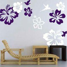 Hummingbirds & Flowers Vinyl Wall Decal by TrendyWallDesigns, $14.95