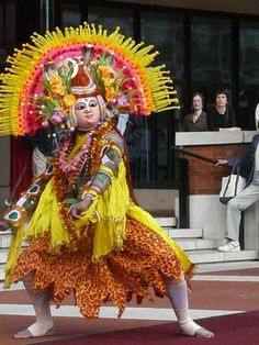 Chhau dance is a genre of Indian tribal martial dance, which is popular in the Indian states of West Bengal, Jharkhand and Orissa.  It is listed on the UNESCO world heritage list of dances.