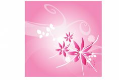 FLOWERS / Free vector Vector flower Pink lily