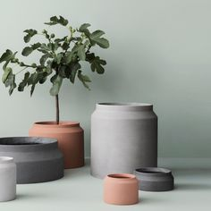 Arrange your plants in our minimalistic pots with geometric details. The pots are made of concrete and are suitable for both indoor and outdoor use. For indoor use, please pay attention to use only moist soil. The pot is not suitable for extremely wet soil and standing water. E.g. caused by too much watering of the plant. In the worst case damages can happen to sensitive grounds/surfaces, like wooden floors etc. For outdoor use in minus degrees, the pots cannot contain water.We recommend…