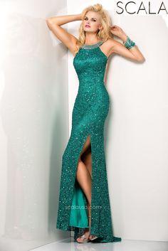 SCALA style 48406 Teal. #Prom2K15 #Spring2015 #Prom2015 #Dress #Gown #Eveningwear #PromDress www.scalausa.com