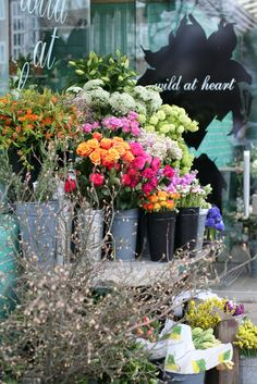 Wild at Heart - flower shop ON WESTBOURNE GROVE, NOTTING HILL, LONDON BEAUTIFUL FLOWERS