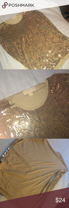 Michael Kors leopard sequined too NWOT. Mix trends! Sequins colored to create a leopard print! Lightweight material 100% rayon. Pair with white shorts this summer and brown booties in the fall. Michael Kors Tops Blouses