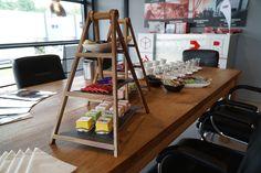 Meeting room at Zünd Benelux in Eersel. Ladder Bookcase, Backstage, Shelves, Room, Furniture, Home Decor, Bedroom, Shelving, Decoration Home