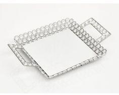 Bandeja Cristal Quadrada 33 Cm World Importados