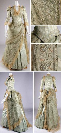 Dress, Russell, New York, ca. 1880-85. Silk. Metropolitan Museum of Art