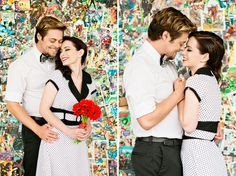 Comic book photos! possible engagement ideas?  these are so cute!!