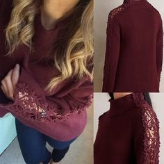 Nwt Anthropologie crochet lace bell sleeve sweater Nwt knitted and knotted bell sleeve sweater with crochet detail from anthro. Size large, I'm a small and desperately wanted to make this work but it's just too loose. 🚫NO TRADES (will trade for a s or a m in this sweater ONLY) Anthropologie Sweaters
