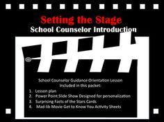 Setting the stage for a good year is vital to our role as school counselors! This School Counselor Introduction Lesson is intended to be used with older elementary or middle school students. It is designed to provide you with everything needed to introduce yourself,  the role of the school counselor & develop a sense of community. Included: 1.Lesson plan (4 pages) 2.Power Point Slide Show  3.Surprising Facts Cards   4. Mad-lib Movie Get to Know You Activity