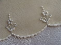 So simple, yet soo elegant! Would be beautiful on the hem of a christening gown.
