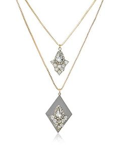 Stellar NYC Double Strand Crystal Necklace