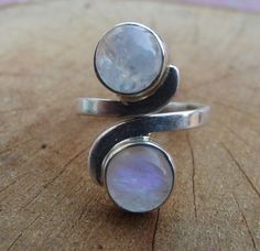 925 sterling silver ring moonstone silver ring di silveringjewelry