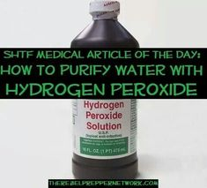 How to purify water with hydrogen peroxide