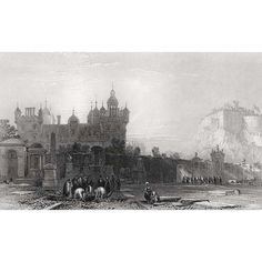 Drawn by Thomas Allom and engraved by W. Woolnoth for 'Scotland Illustrated' by William Beattie, 1838 Steel engraving 1838 Image size 185 x 112 mm 600 ppi Visit Edinburgh, Scotland, Draw, City, Illustration, Painting, To Draw, Painting Art, Sketches
