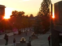 Mirroring sunset at the WSU campus. Go Cougs!