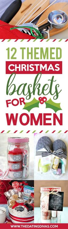 Christmas Gift Baskets for Women- great DIY Christmas gift ideas for HER! #christmasgiftforher
