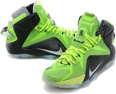 41338424cc37 Lebron 12 Neon Green Black0 Nike Leggings