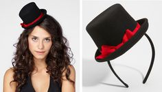 Mini Cabaret Top Hat Headband. Nice props for photo booth.