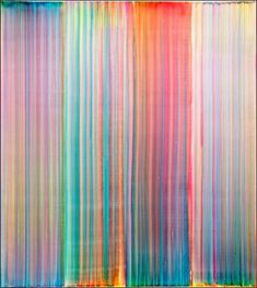 Bernard Frize and the candy-like paintings